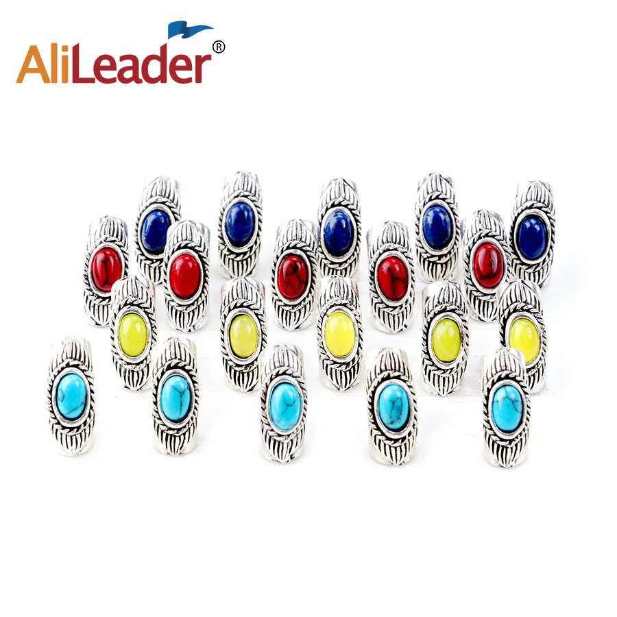 Alileader 10 шт./партия в стиле норвежских викингов синий красный желтый бисер с рунами для бороды Подвески на шнуре Паракорд и браслеты DIY