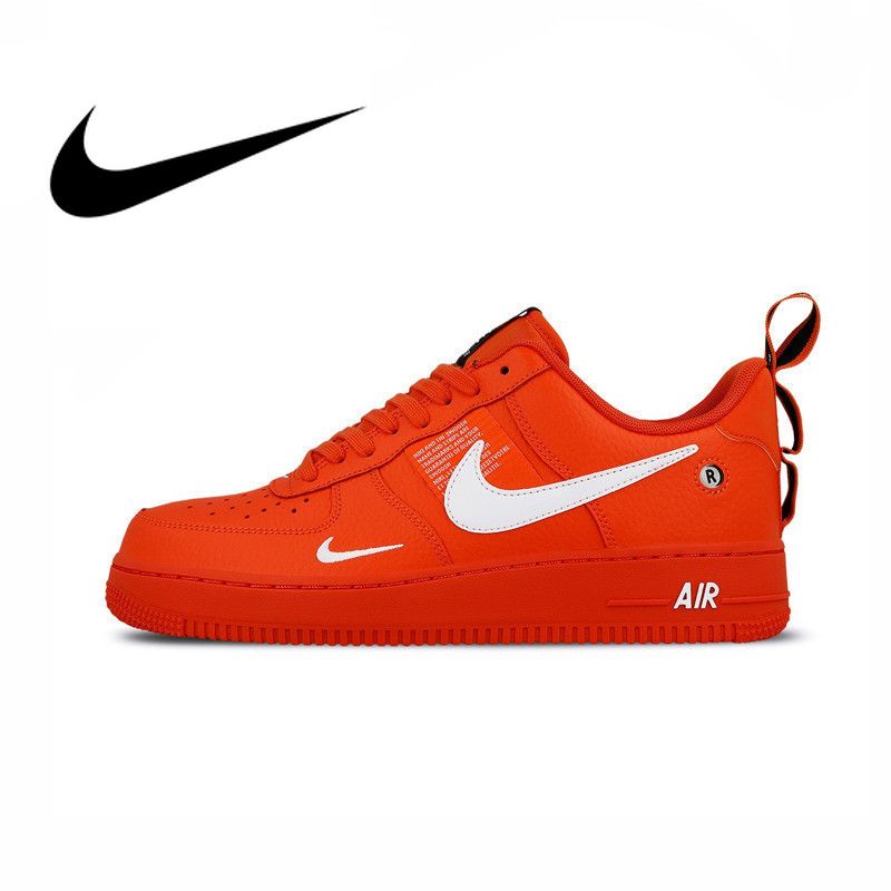 af7f88f53 Original authentic Nike Air Force 1 Af1 men's skateboard shoes new fashion  outdoor sports shoes red trend sports AJ7747-800