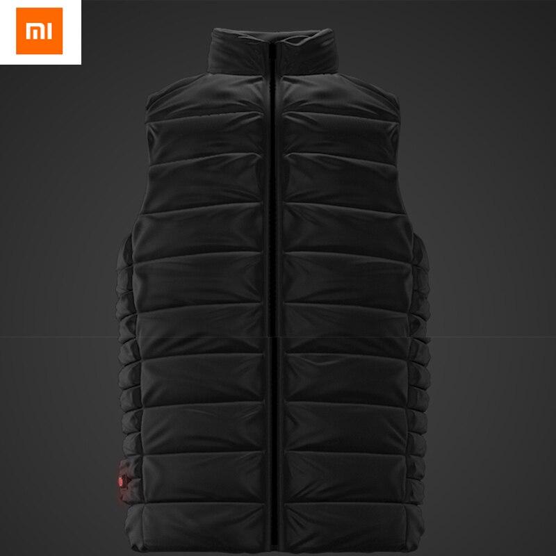 Newest Original Xiaomi COTTONSMITH Hot Temperature Control Down Jacket Charging Treasure Power 38 to 53 Celsius xiaomi cottonsmith stylish denim jacket 100