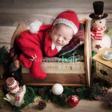 Newborn baby Christmas photography props,handmade mohair outfits,mohair pants with matching hat,baby photography props set of fashion color matching knitting props clothes hat for baby s photography