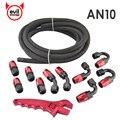 Evil energy 5 М AN10 нейлоновый плетеный шланг для гонок из нержавеющей стали + AN10 набор адаптеров для нефтяного топлива с красным гаечным ключом