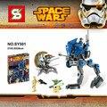 SY501 Droid Trooper de STAR WARS Yoda maestro AT-RT Asalto Robot bloques de construcción de montaje conjunto de juguete de regalo de navidad
