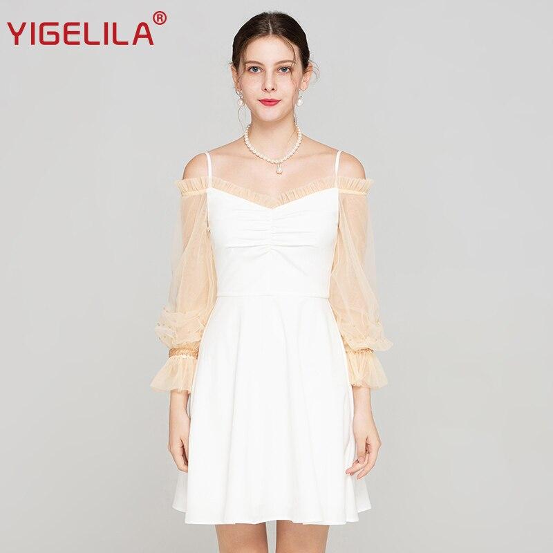 Courroie Distributeur Mini Blanc Perles Femmes Yigelila Nourriture Robe Nu Slim V Gaine Dos Empire Lanterne Mode Automne De cou Maille 64133 4tRqtWZ0w6