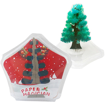 2019 100mm H Green Artificial Magic Growing Paper Tree Magical Crystals Christmas Trees Educational Funny Kids Toys For Children