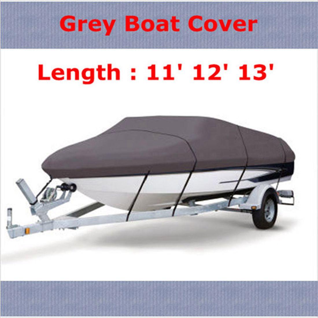 Лодка водостойкая 210D серая лодка швартовка крышка 11 12 13 футов луч 105 дюймов Trailerable рыба-лыжный v-корпус сумка для хранения