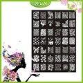 1 Unids Nuevo Diseño BQAN Acero Inoxidable Labios Atractivos/Corazón/Flor de la Serie de Imágenes Nail Plate Estampación XY12
