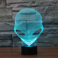 3D Atmosphere Lamp 7 Color Changing Visual Illusion LED Decor Lamp Martian Home Table Decoration For