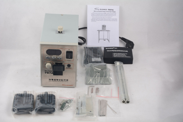 797A Micro computer Single/Dual/16 Pulse Spot Welder welding machine for Battery