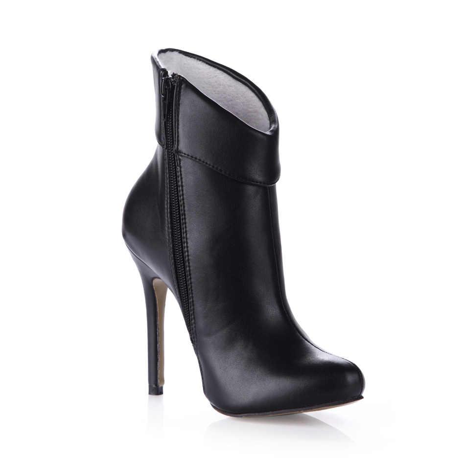 CHMILE CHAU Mode Bootie Ankle Boot Frauen Stiletto High Heel Stiefeletten Tobillo Botas Mujer Bottes cheville Talon 0640CBT-k2