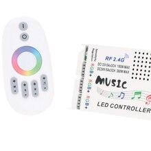 [Seven Neon] Музыкальный светодиодный rgb-пульт управления DC12-24V интеллектуальная чувствительность 3* 5A светодиодный пульт управления+ РЧ сенсорный пульт дистанционного управления