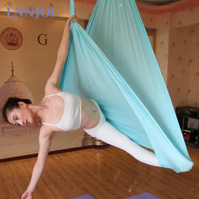 ENNJOI 4M  Yoga Hammock Anti-gravity Multifunctional Aerial Yoga Hammock Swing Belt for Yoga Training Fitness Tools aerial anti gravity yoga belt w elastic orange