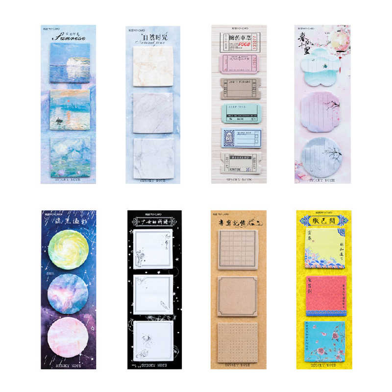 Kreative Lange Version Bunte Memo Pad Nette Kawaii Selbst-Adhesive Sticky Notizen Büro Schule Liefert Notizblock Schreibwaren