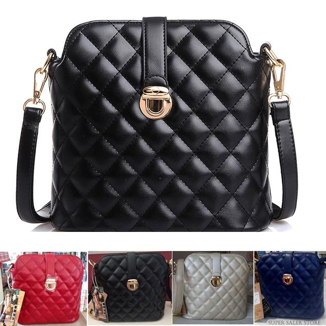 New 2015 Fashion Brand Women Messenger Bag Small Quilted Crossbody Shoulder Bag Woman Designer PU Leather Plaid Handbags