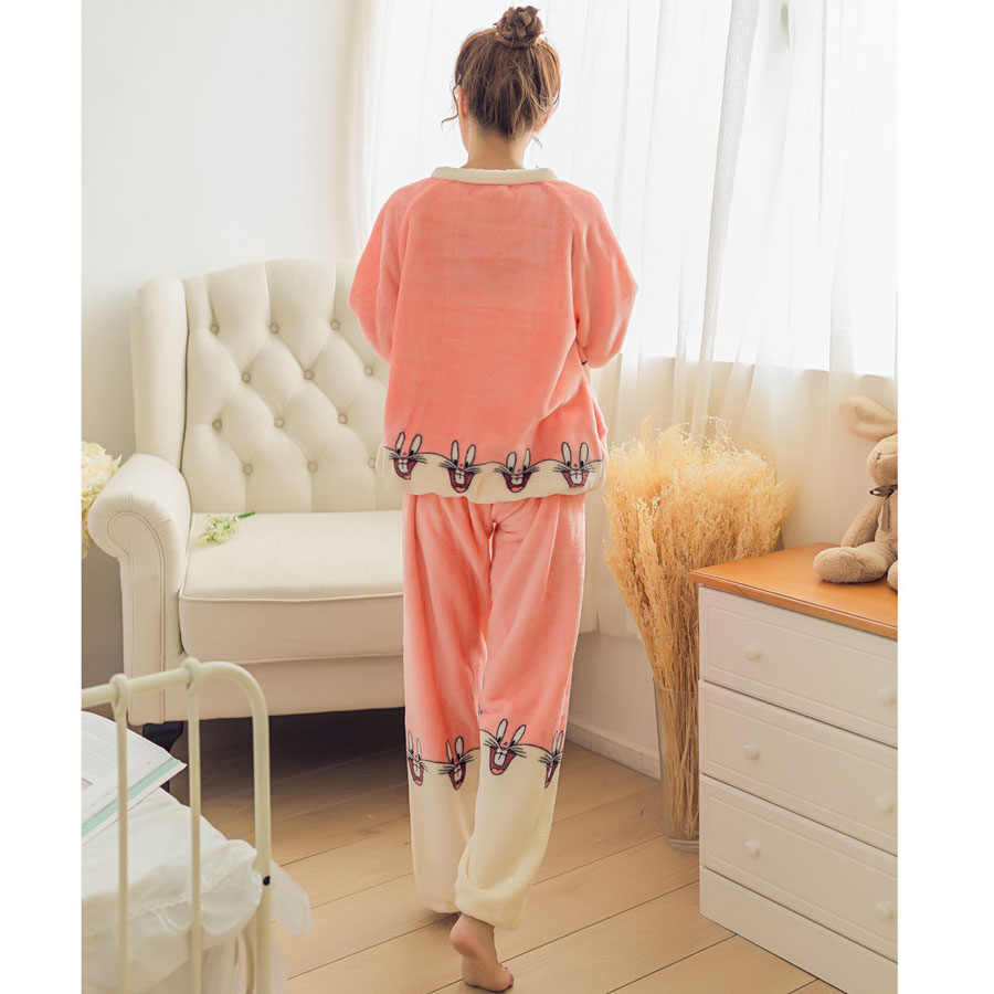 0812ea4403be ... Для женщин Фланелевые пижамы животных Kigurumi пижамы для девочек  зимние теплые взрослых домашние костюмы ночное белье ...