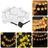 Lantern Shaped 30 LEDs Solar String Lights Outdoor Garden Fairy Lamp For Holiday Party Decoration Warm White Holiday Lighting
