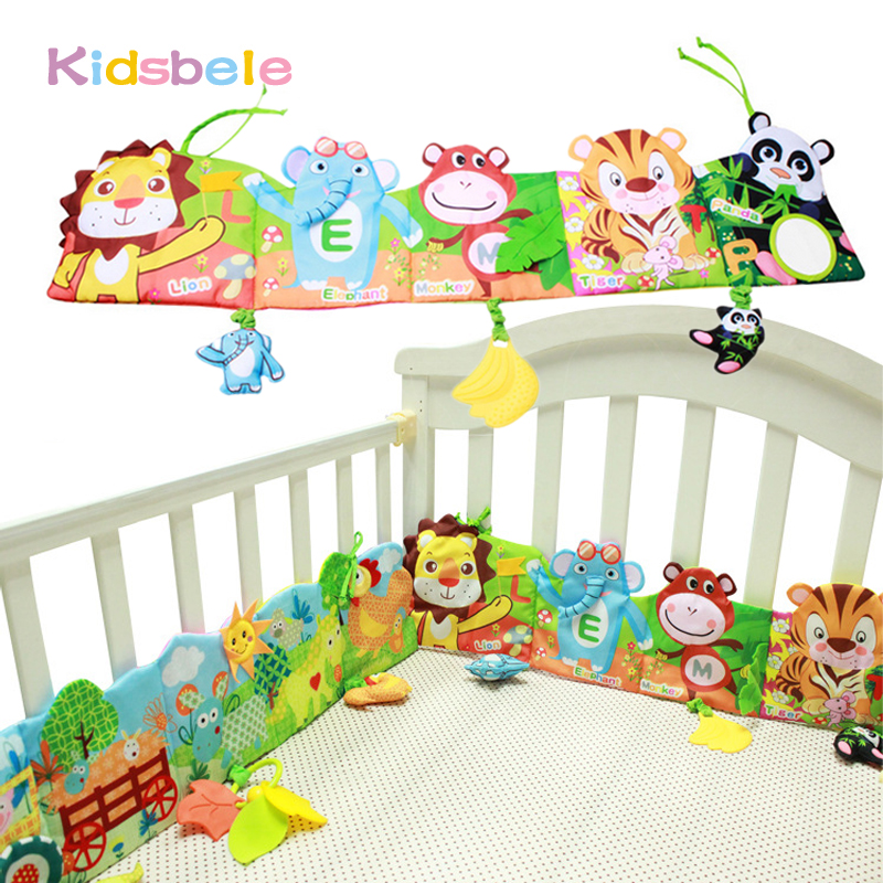 Kidsbele Crib Soft Rattles Toy Educational Baby Cloth Book