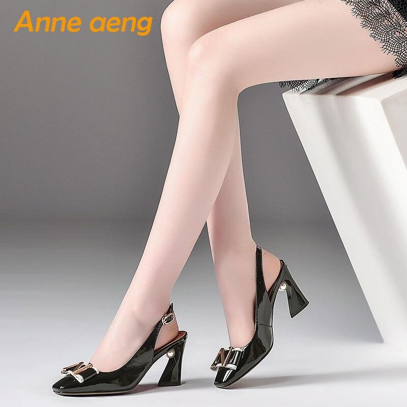 Gris Sandales Perle Pour Nouvelle Mode Femmes Véritable Sexy Haute Gray Lady Talon Light De En Carré Métal Chaussures Cuir 2019 Ouvertes black D'été qHUF0wFX