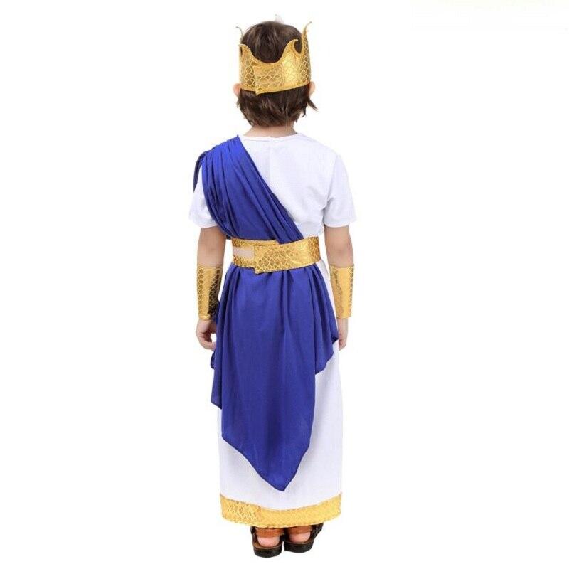 Costume romain ancien pour la fête des enfants Halloween Cosplay Party grec Neptune jeu de rôle - 4