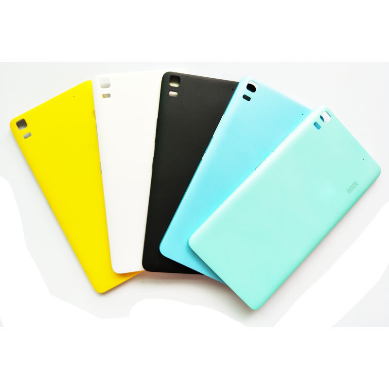 New Battery Back Cover For <font><b>Lenovo</b></font> K3 NOTE K50-T5 <font><b>A7000</b></font> Phone Housing Case Door With Power <font><b>Volume</b></font> <font><b>Button</b></font> Key image
