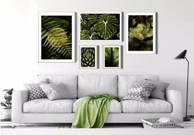 Aliexpress.com : Buy No Frame Thriving Leaf Poster Scandinavian ...