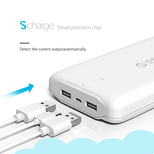 20000 MAh Portable Dual USB Mini Power