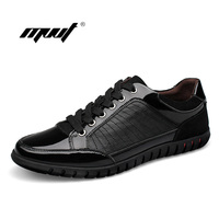 High Quality 100 Genuine Leather Men Shoes Casual Men Flat Shoes British Style Lace Up Sneakers