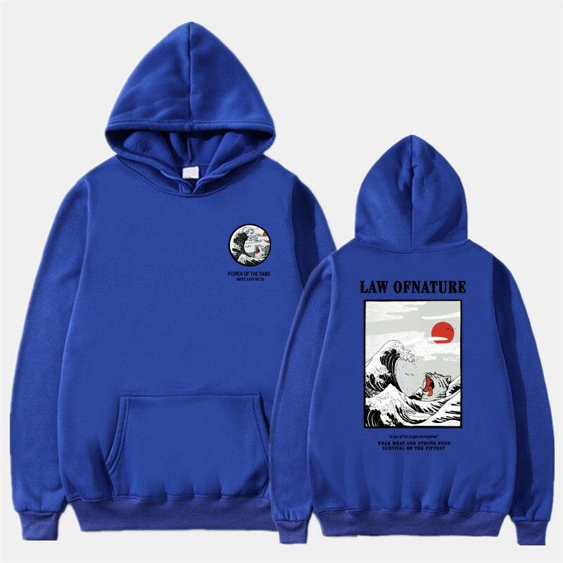 Newest Japanese Funny Cat Wave Printed Fleece Hoodies 19 Winter Japan Style Hip Hop Casual Sweatshirts KODAK Streetwear 7