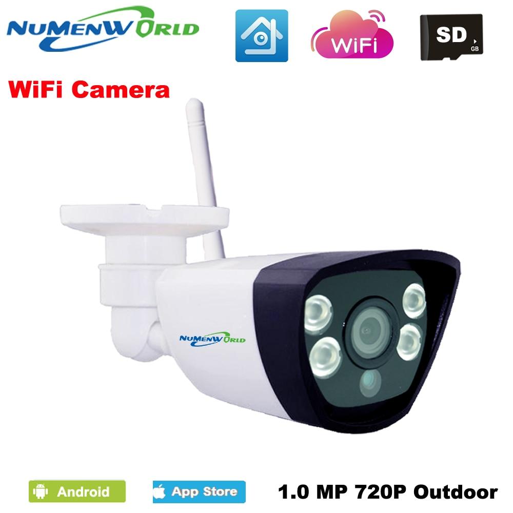NuMenWorld Wireless IP cam 720P SD HD P2P 802.11b/g/n wifi network Wired IP Camera IR Outdoor Waterproof Camera IP ABS Plastic фотоловушка bushnell trophy cam hd wireless 119598