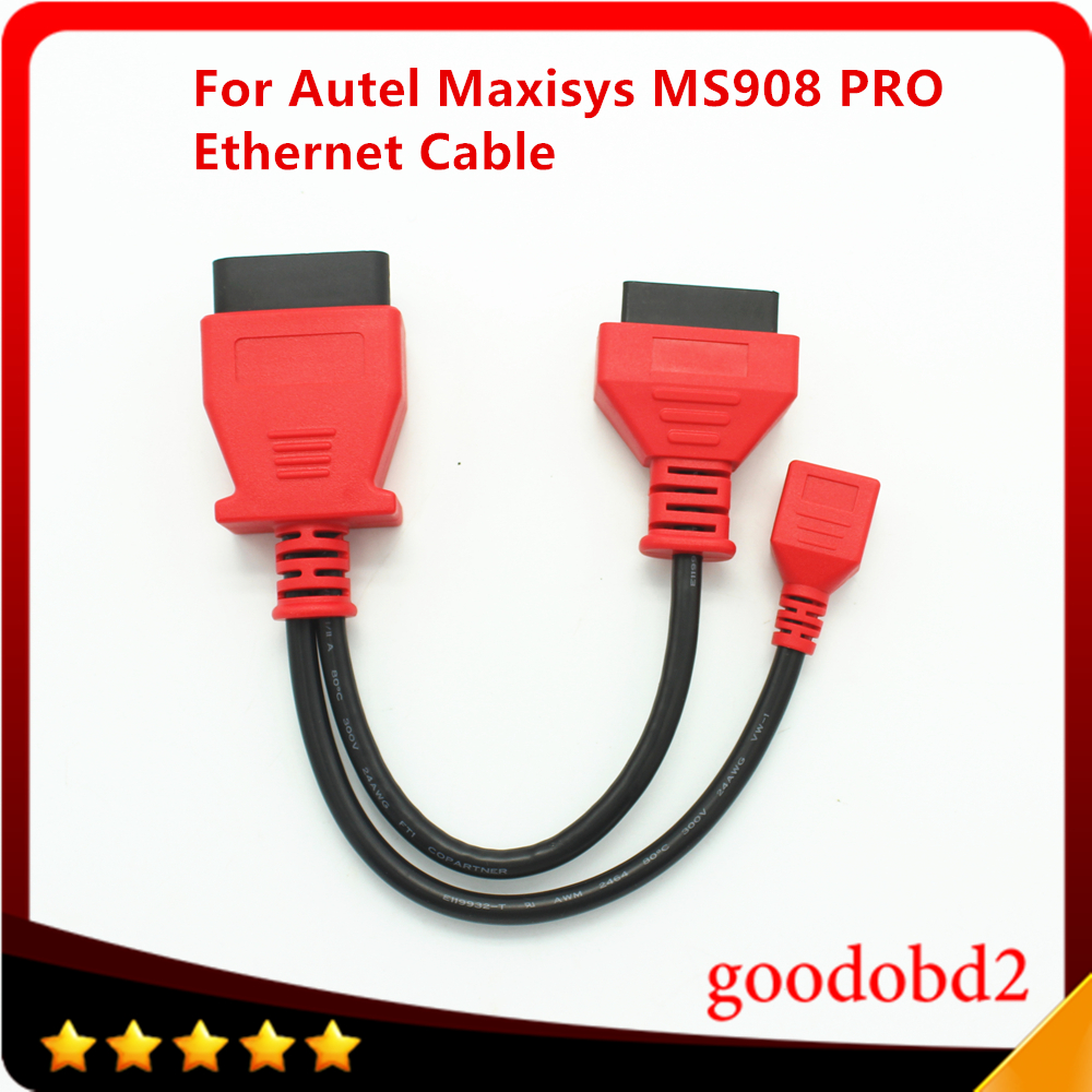 For Autel Maxisys MS908 PRO Ethernet <font><b>Cable</b></font> for <font><b>BMW</b></font> F Series <font><b>Diagnostic</b></font> Tool Car <font><b>Cable</b></font> Auto 16pin Programming <font><b>Cable</b></font> image