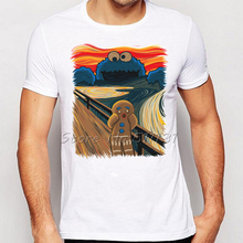Funny Cookie Monster Design Printed T Shirt Summer Men's The Cookie Muncher Novelty Short Sleeve Tee Tops Plus Size S-XXXL