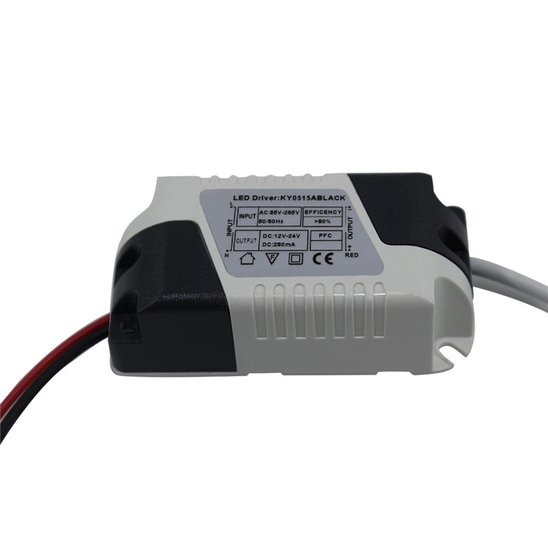 LED Constant Current Driver 6W 280mA Power Supply Output DC 12-24V External Isolation Lamp Lighting Transformer