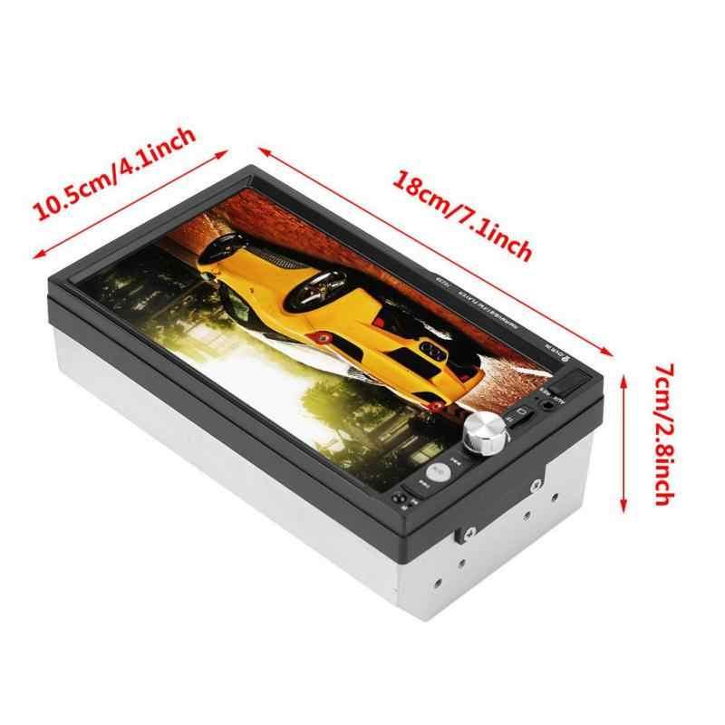 """2 Din 7023B reproductores Multimedia de coche 7 """"Pantalla táctil Auto Radio 2din estéreo Autoradio soporte cámara de visión trasera espejo enlace android"""