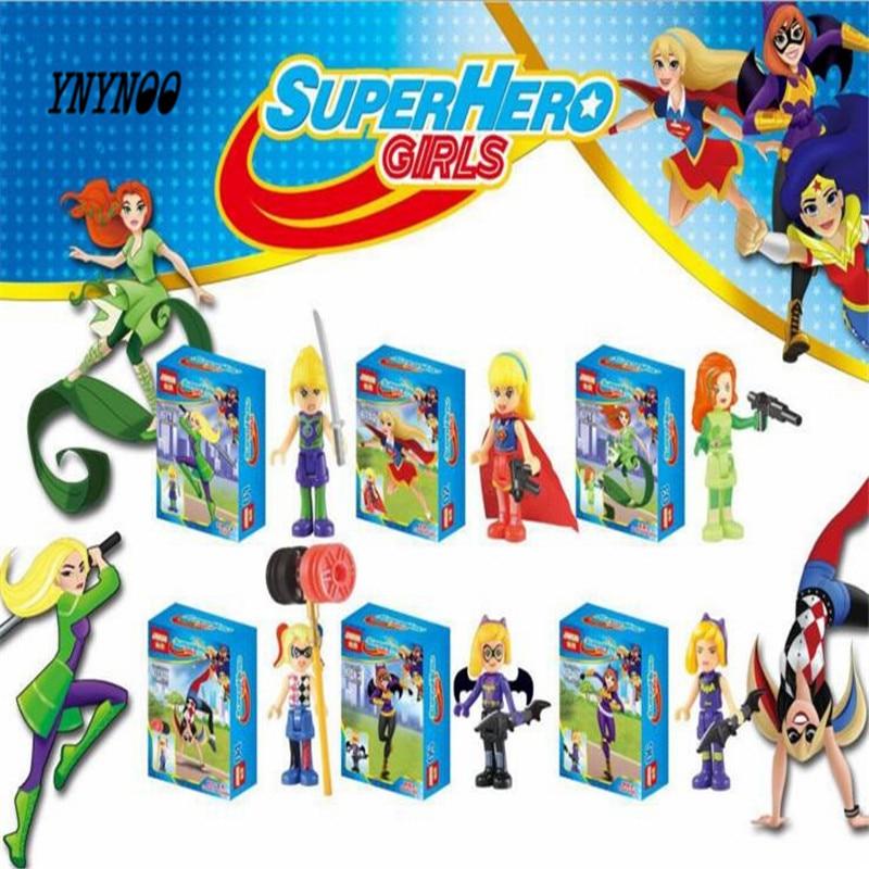 YNYNOO JR923 DC Super Heroes Girls Wonder Woman Dorm Building Blocks Classic For Girl Friends Model Toys Marvel Compatible Lepin