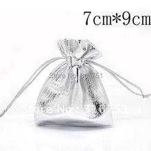 100 шт. посеребренные ткани подарочные сумки с кулиской 7 X 9 см ( w01809 X 1 ) а . а .