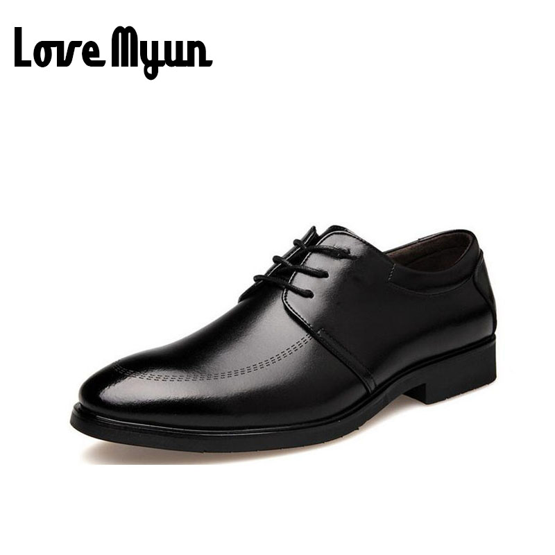 Pointed toe fashion black dress shoes mens patent leather shoes business wedding shoes lace up flats size 38-44 AB-07
