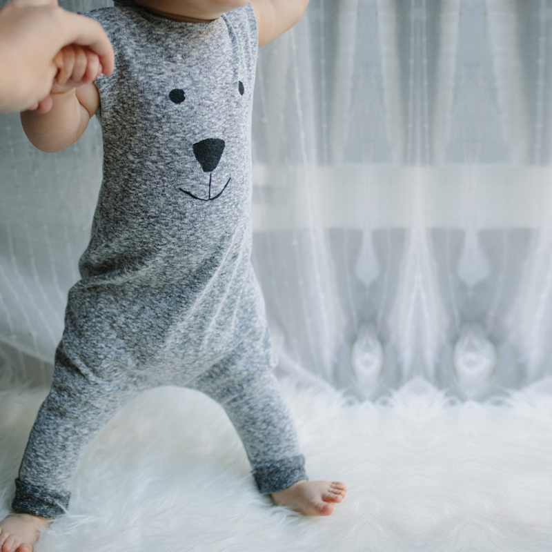 2017 New Girl Boy Bear Cotton Jumpers Jumpsuit Sleepsuit Baby boys girls rompers 0-24 M children outsuits SR191 jumpers inflatable