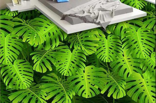 3d vloer behang custom 3d stereoscopische 3d floor schilderen groene
