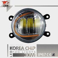 LYC Высокой Мощность светодиодных чипов IP67 3.5 дюйм(ов) противотуманных фар DRL для автомобиля светодиодный фонарь автомобилей туман с подсветк