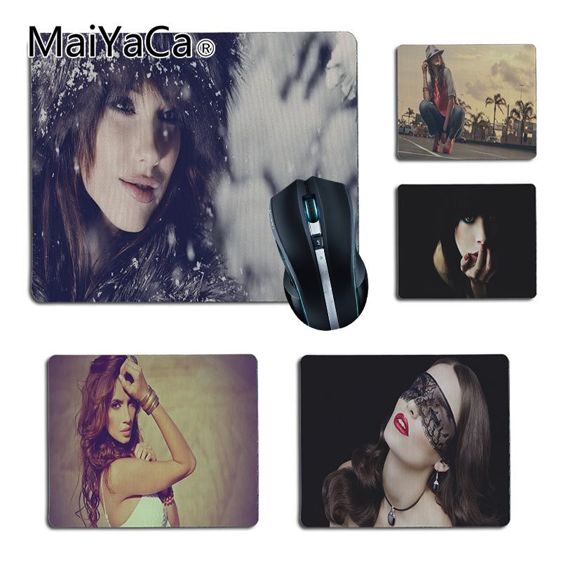 MaiYaCa New Printed Sexy fashion girl Computer Gaming Mouse mats Size for 25X29cm 18x22cm Gaming Mousepads