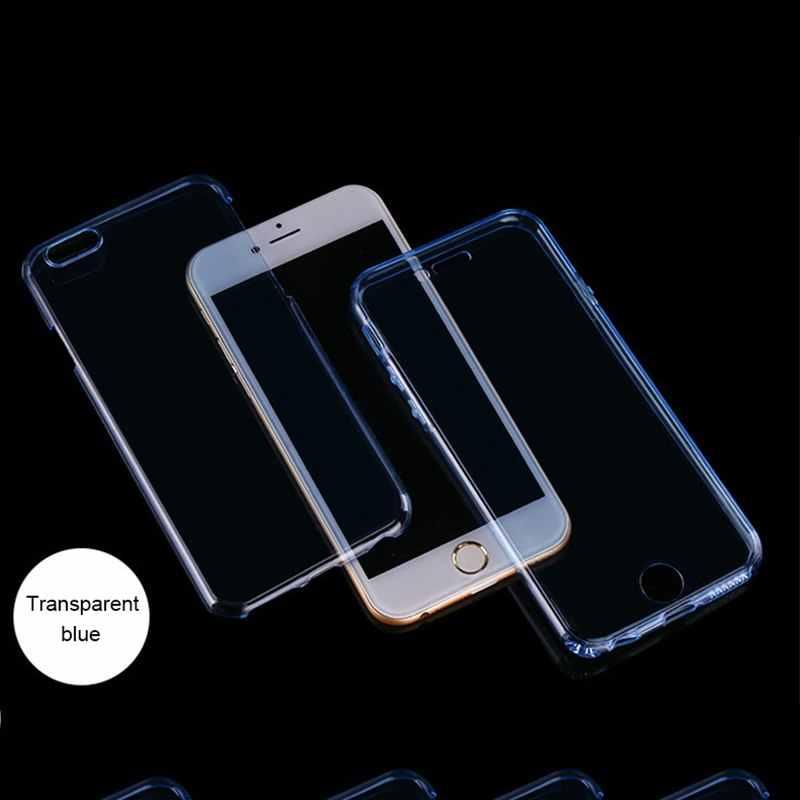 Caja del teléfono celular para el iPhone 6 6 S 6 6 S 7 8X10 XR XS Max Plus 5S 5 5SE funda transparente de parachoques 6 Plus 6 SPlus 7 Plus 8 Plus 360