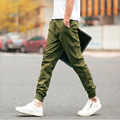 1pcs Men's plus size pants trousers 2017 Spring Fashion Pure cotton Casual ankle banded pants Skinny Pencil pant trousers Men