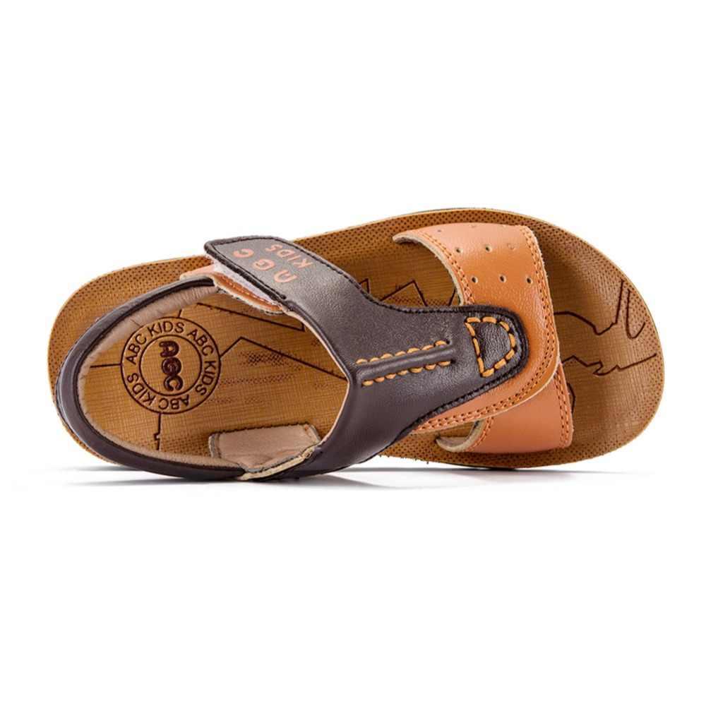 Abckids 4-7 T ฤดูร้อนผสมสีเด็กสบายรองเท้าแตะลำลองรองเท้ากลางแจ้งรองเท้าผ้าใบเด็ก