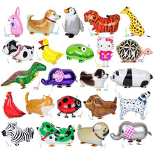 Hot Sale walking pet balloons animal balloon aluminum foil animals Kids birthday party supply Inflatable classic toys