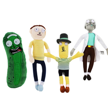 4styles Rick and Morty Season 3 American Cartoons Pickle Cucumer Rick Morty Smith Mr Poopybutth Plush Stuffed Doll Toys