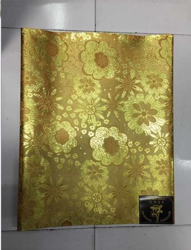 עניבת ראש גלישת צעיף מסיבת חתונה אפריקאית ניגרית, צהוב סגו הניגרי gele headtie ועטיפה 5 חבילות 10 pieces