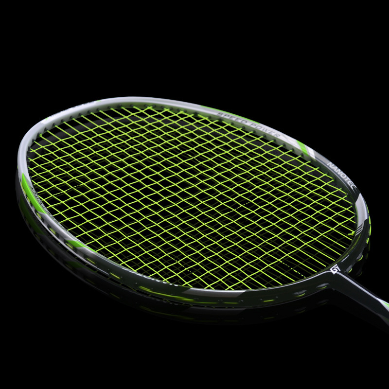 1pc 4U 30lbs Badminton Racket Quality Attack Type Full Carbon Racket Speed Smash Badminton rackets high quality badminton rackets carbon fiber 4u super light 30lbs graphite racquets with string professional offensive for adult