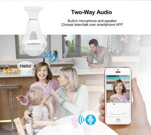 Image 3 - MISECU 5.0MP 3.0MP 1.3MP 360 degree VR Audio 128GB slot Wireless IP Camera Bulb Wi fi FishEye Home Security WiFi Camera security