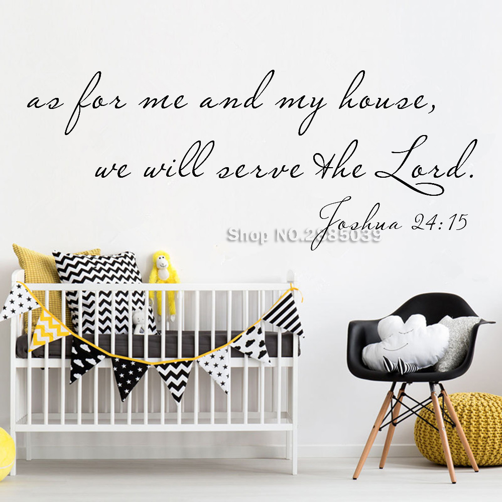 Joshua 24:15 Wall Decal As for Me and My House,Christian Decor Bible Verse Wall Stickers Art Vinyl Home Decor Decals New LC723