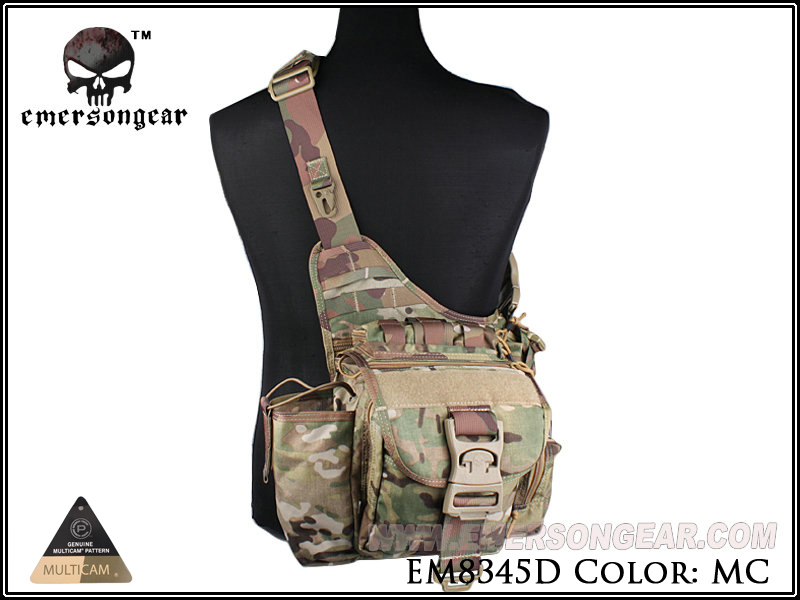 Prix pour Emersongear Jumbo Versipack Tactique Sling Pack Recon Tactique Militaire Vitesse Épaule Sac EM8345 Multicam Noir Kaki