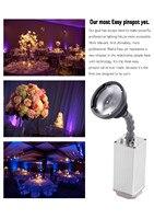 Раша Пуля 10 Вт зум Мини Батарея питание Беспроводной pinspot света с ИК Дистанционное управление, с магнитной для свадьбы события